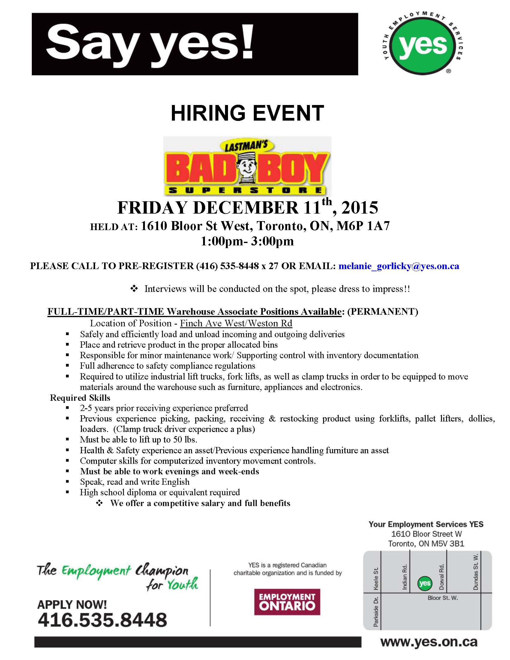 lastman s bad boy is hiring call now to book your interview hiring event bad boy1
