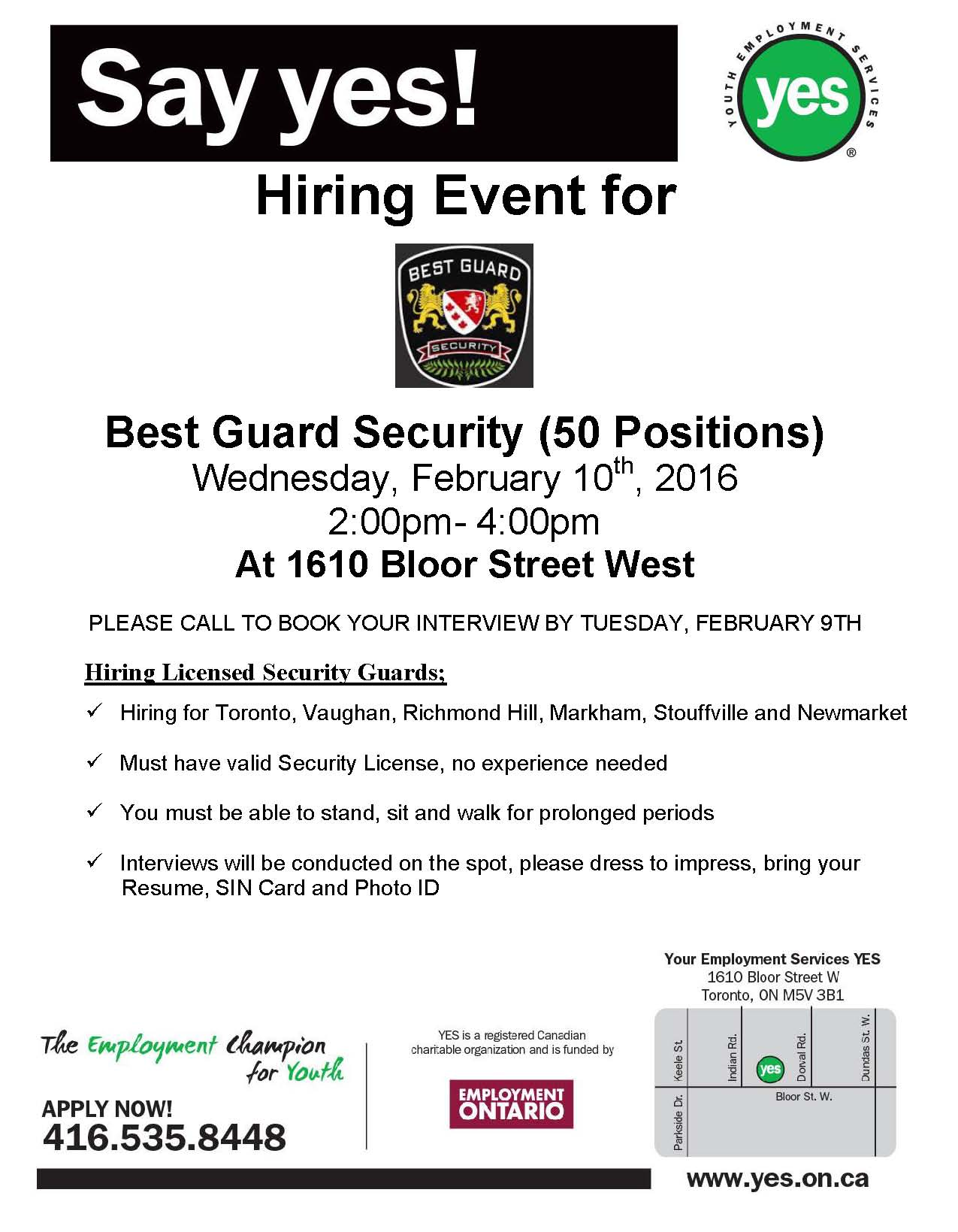 news events youth employment services yes page 5 yes jobfair 1610 flyer bestguardsecurity