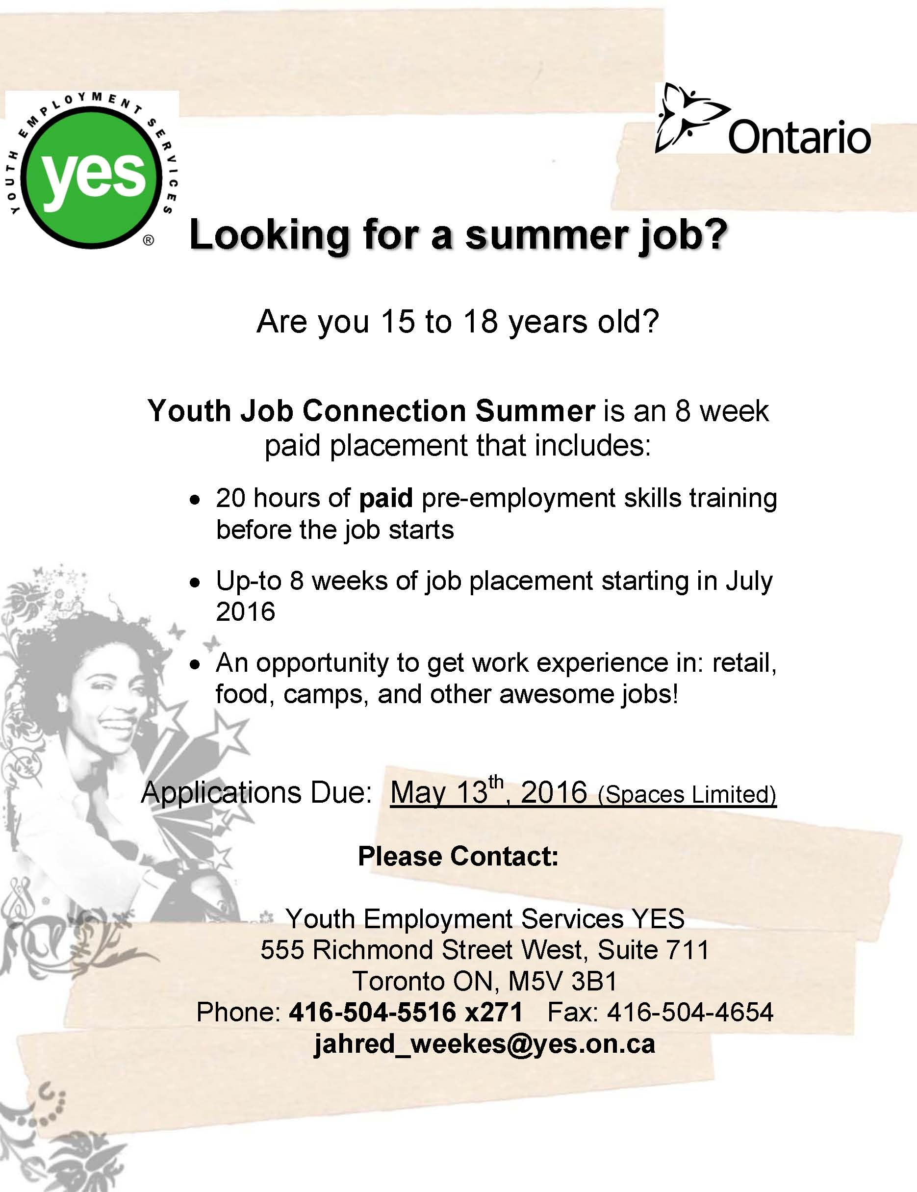 youth job connection summer is now accepting applications yjc summer