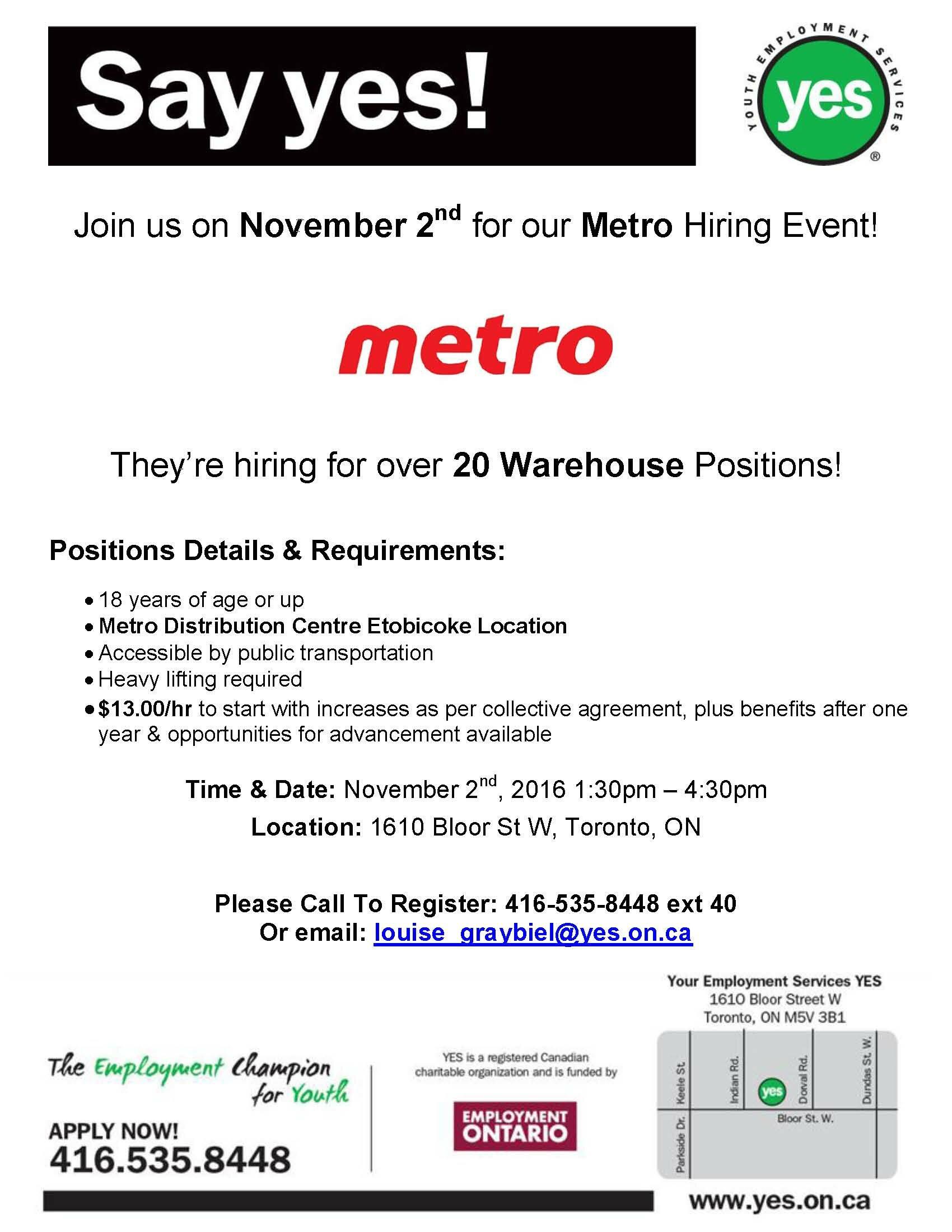 YES Metro November 2nd